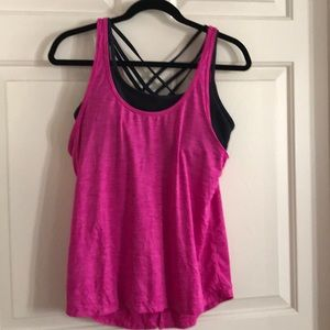 Athleta tank with supportive bra
